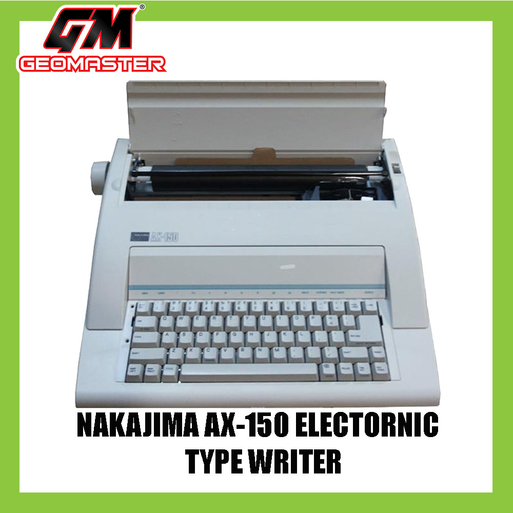 NAKAJIMA ELECTRONIC TYPEWRITER AX-150 (3 YEARS WARRANTY)