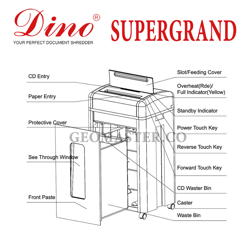 Dino Super Grand Heavy Duty Paper Shredder Cross Cut Machine
