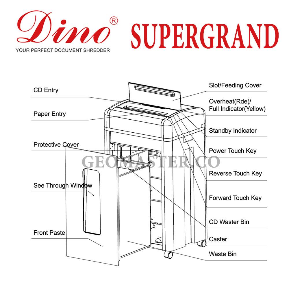 DINO SUPER GRAND Paper Shredder (Cross Cut)