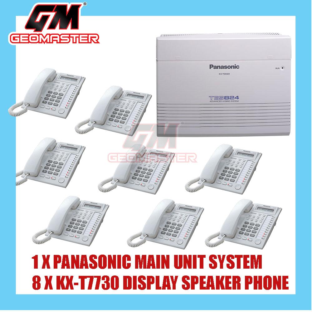 PANASONIC KX-TES824 KEYPHONE SYSTEM WITH 8 UNIT PHONE