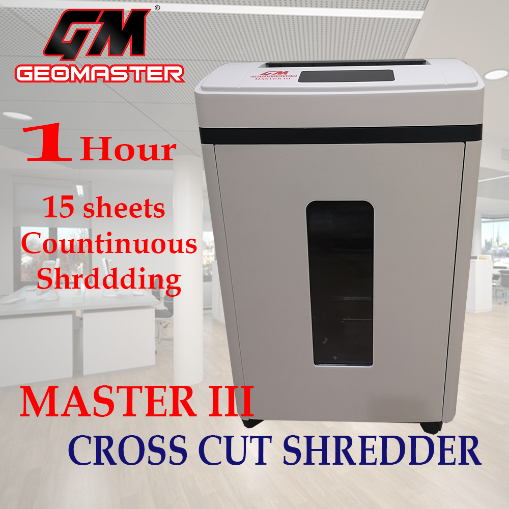 GM EXTRA STRONG STAINLESS CUTTER PAPER SHREDDER SMART TOUCH SCREEN WITH POWERFUL MOTOR SHRED TIME 60 MINUTES