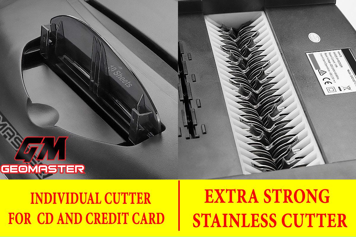 GM PLATIMIUM PAPER SHREDDER CROSS CUT - SHRED CD + CREDIT CARD