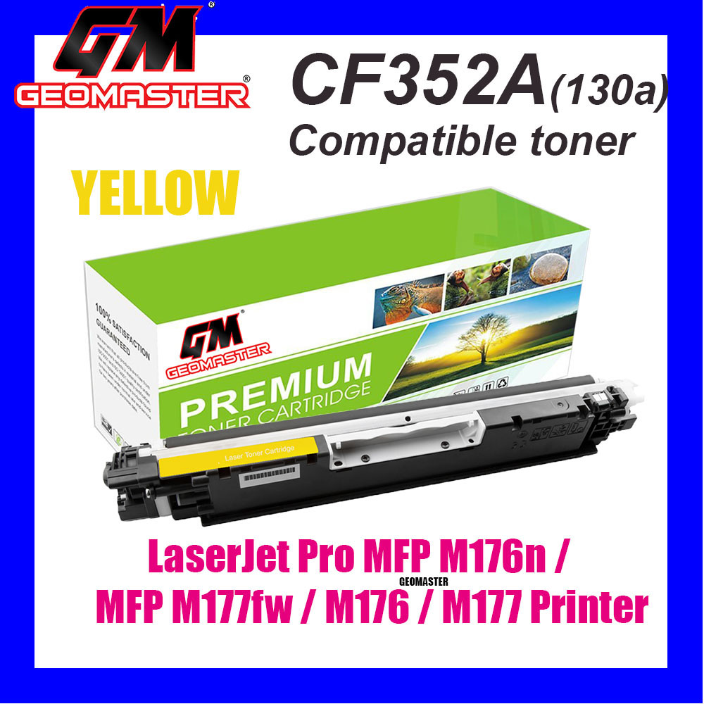 Compatible Laser Toner CF352A / 130A Yellow High Quality Compatible Toner Cartridge For LaserJet Pro MFP M176n / MFP M177fw / M176 / M177 Printer