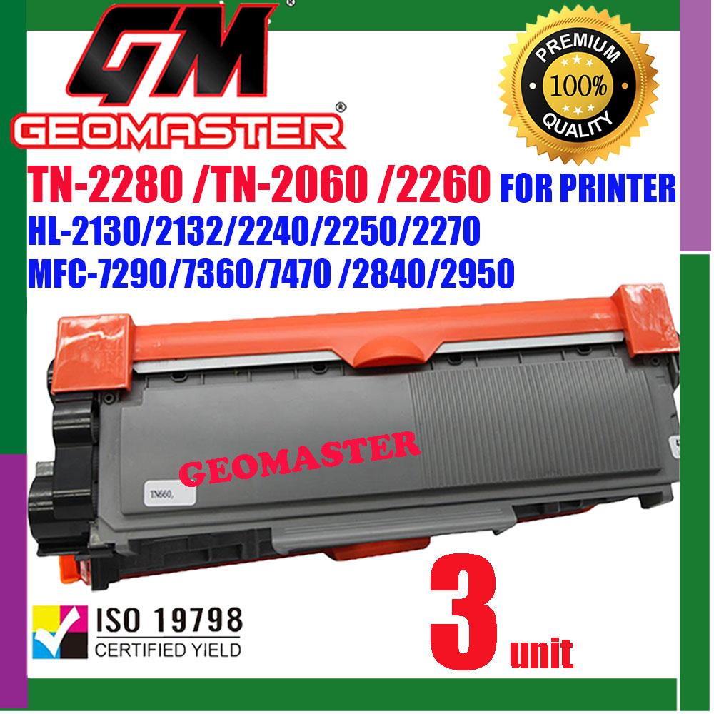 3 UNIT TN-2380 / TN-2360 / TN2380 / TN2360 Compatible Laser Toner Cartridge For HL-L2360DN / L2360 / HL-L2365DW / L2365 / DCP-L2540DW / L2540 / MFC-L2700D / MFC-L2700DW / L2700 / MFC-L2740DW / L2740 Printer
