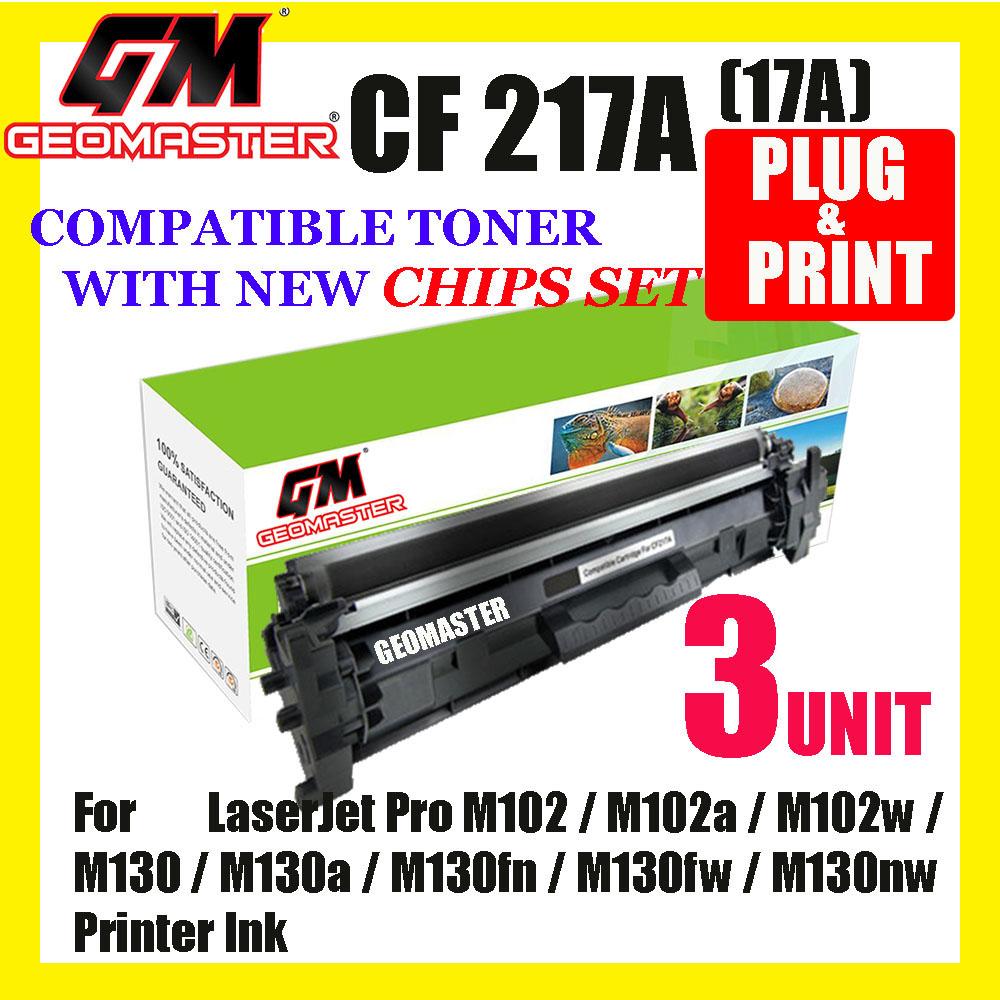 3 UNIT Compatible Laser Toner Cartridge For 217 CF217a 217a 17A HP LaserJet Pro M102 / M102a / M102w / M130 / M130a / M130fn / M130fw / M130nw