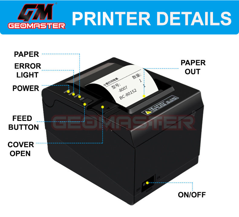 HEAVY DUTY THERMAL RECEIPT PRINTER -80mm (USB CONNECT)