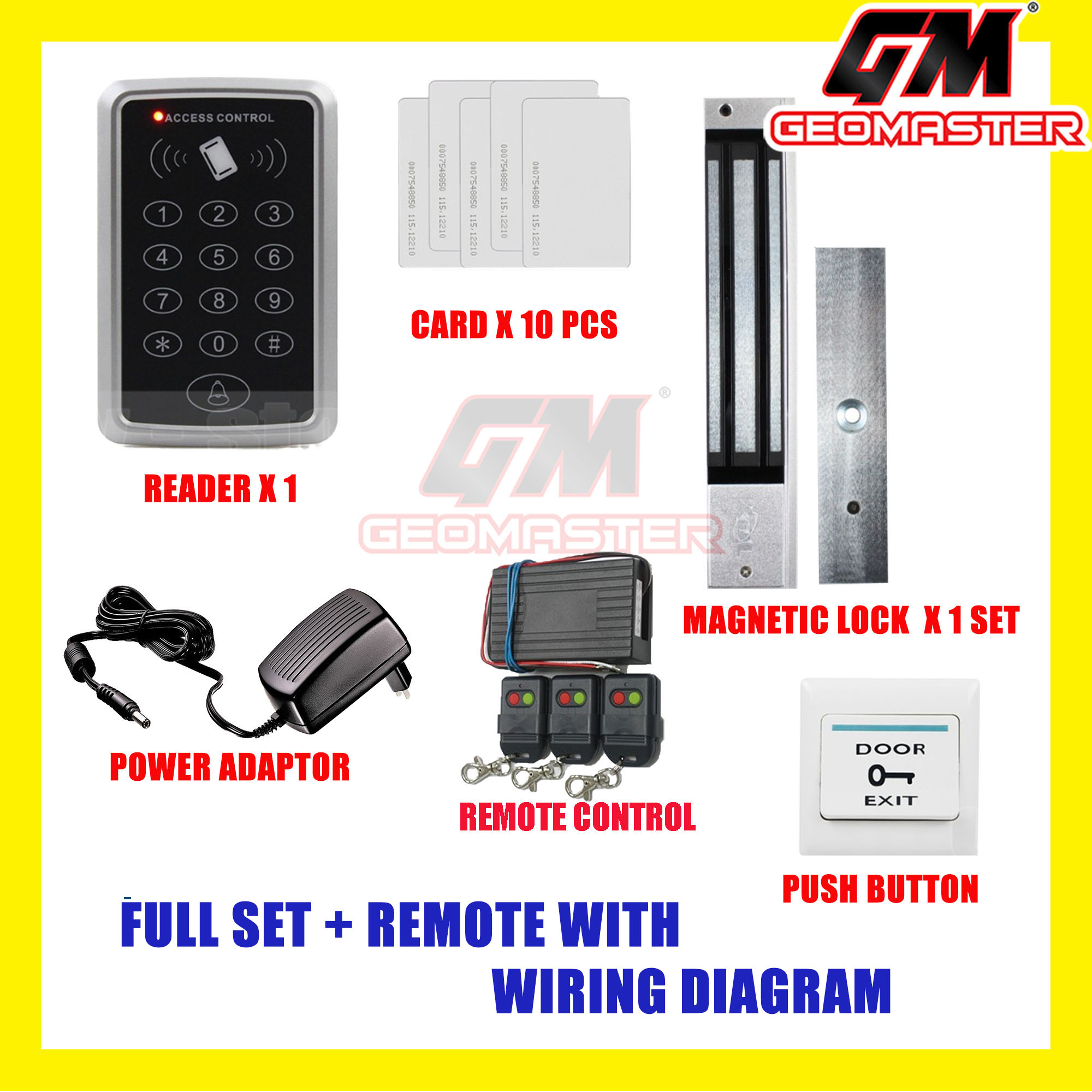 New Rfid Card Access Door System 10 Years Warranty Wiring Diagram
