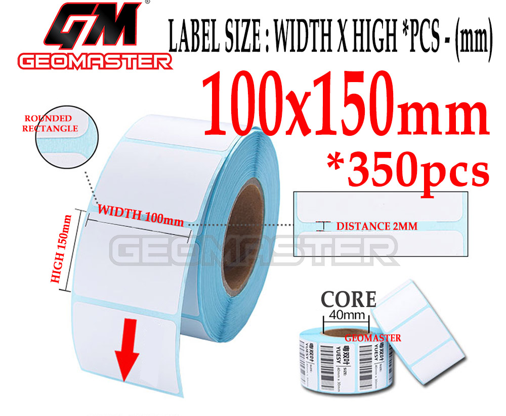 100 x 150 mm Barcode Sticker Thermal Price Label Product Label Sticker Paper Stock Ready 100 x 150 mm