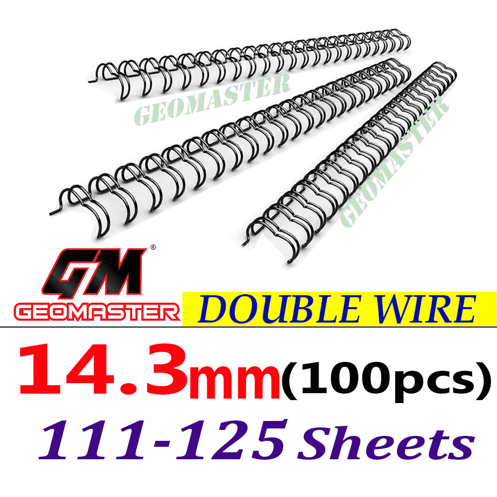 Wire Binding Spines Double Loop Wire Binding 34 loops 3:1 9/16\'\' 14.3mm 100pcs/Pack