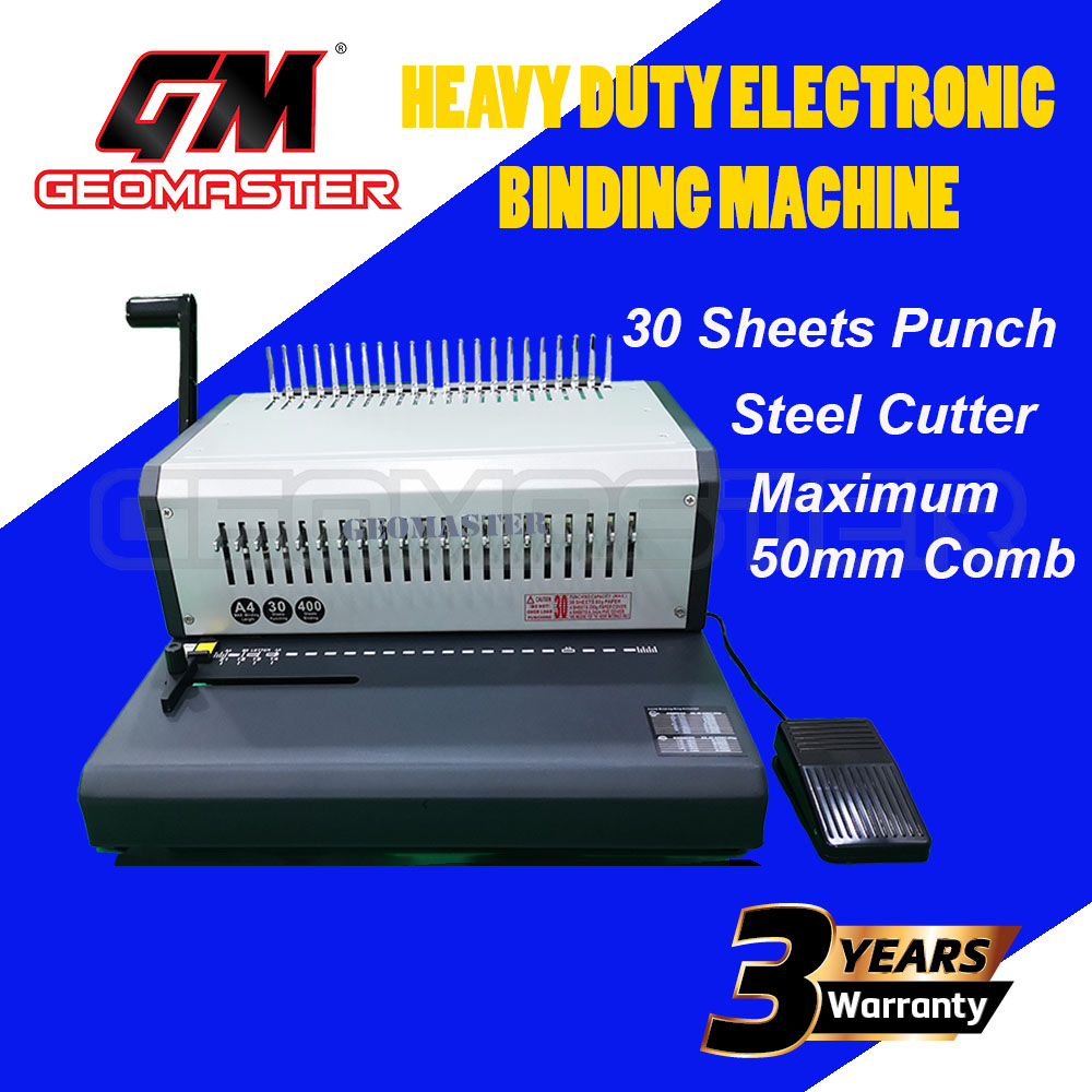 GEOMASTER BINDING MACHINE - ELECTRONIC BINDING MACHINE