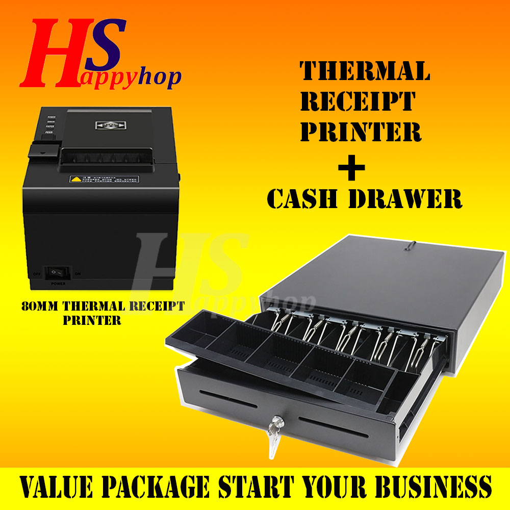 GEOThermal Receipt Printer 80mm - USB with Drawer Set