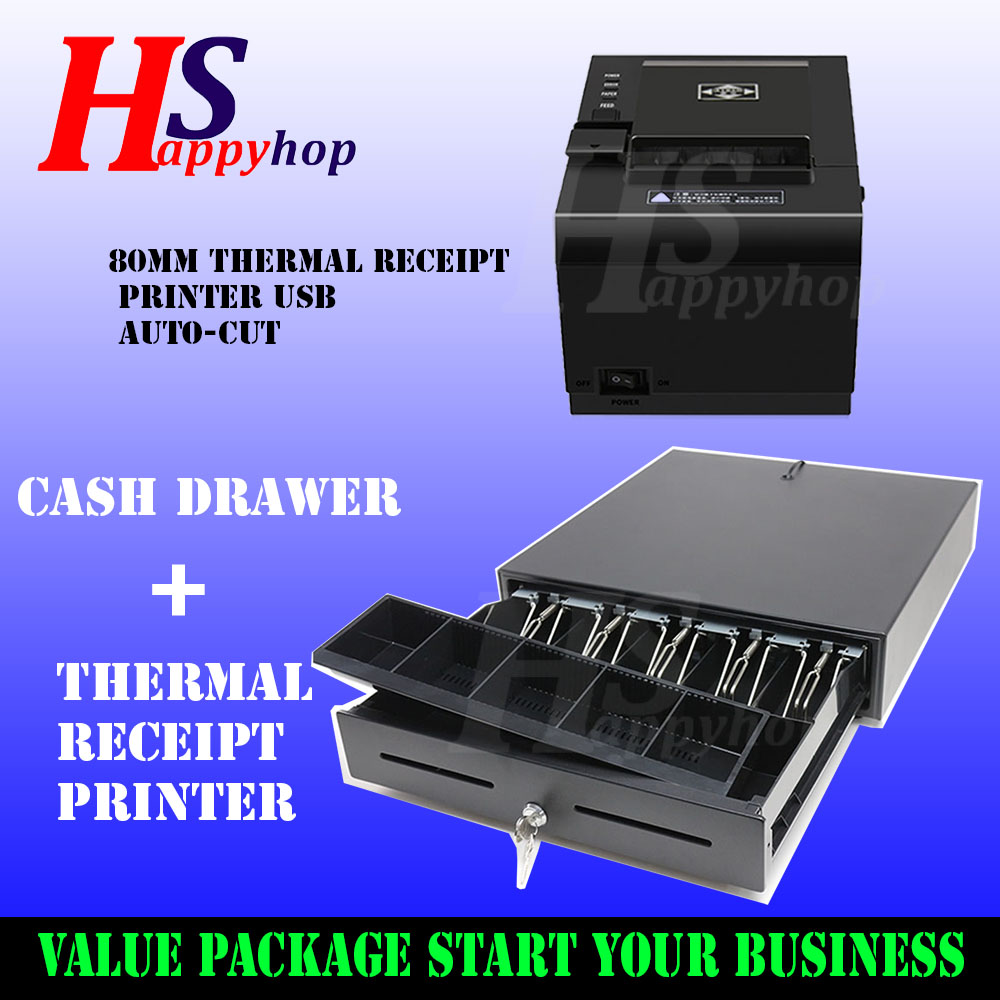 GM Thermal Receipt Printer 80mm - USB with Drawer Set
