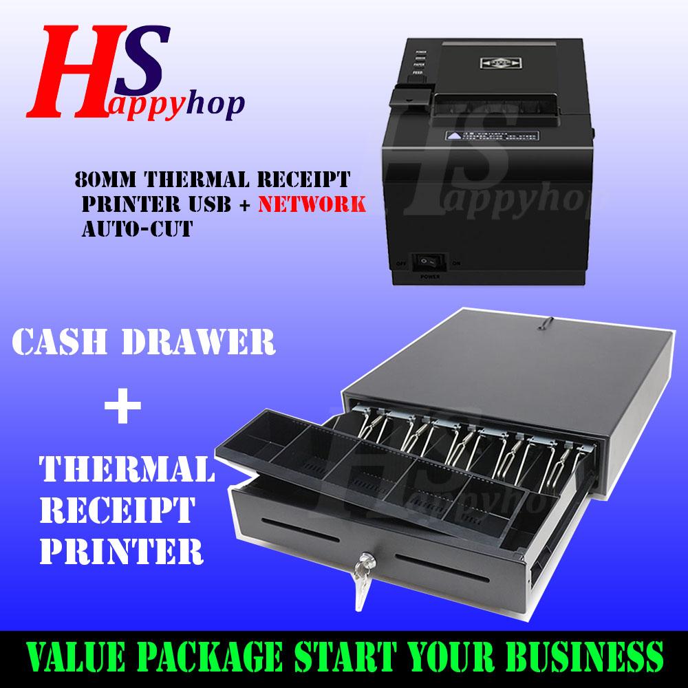 GEO Thermal Receipt Printer 80mm - USB / Drawer Set