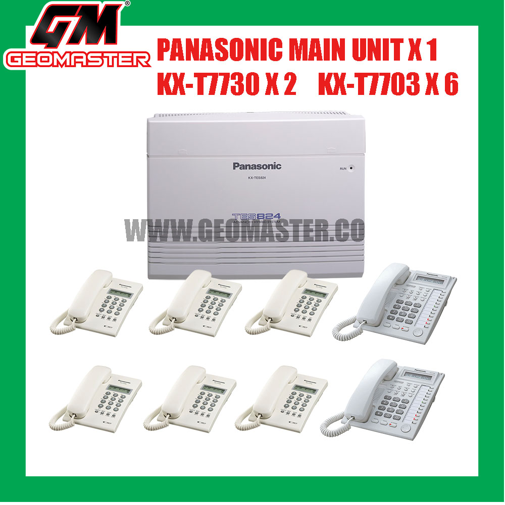 PANASONIC KX-TES824 HYBIRD KEYPHONE SYSTEM WITH 8 UNIT PHONE