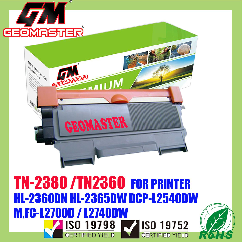 Compatible Laser Toner Brother TN-2380 / TN-2360 / TN2380 / TN2360 Compatible High Quality Toner Cartridge For Brother HL-L2300D / L2320D / L2360DN / L2365DW / DCP L2520D / L2540DW / MFC L2700D / L2700DW / L2740DW Printer Toner