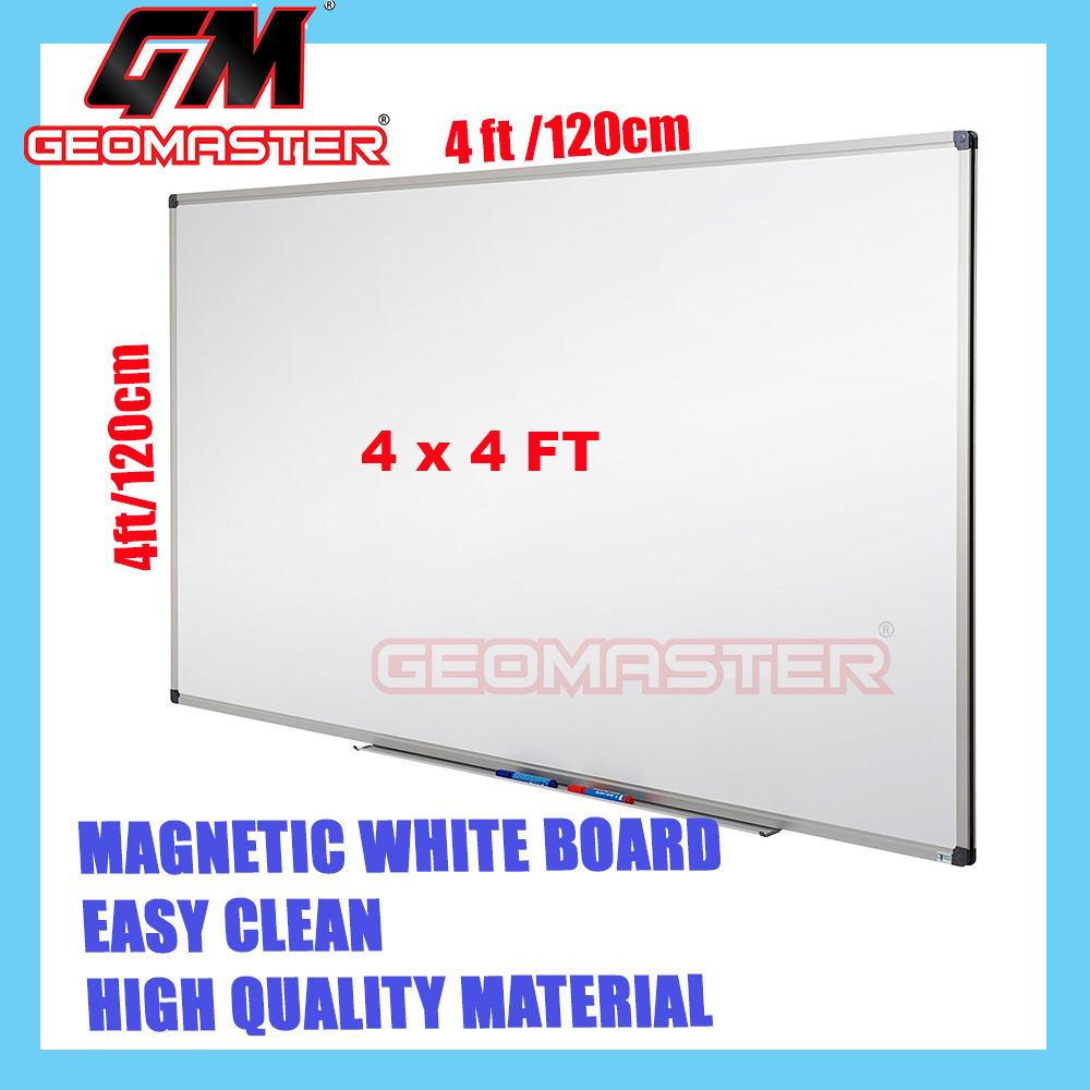 HIGH QUALITY Magnetic White Board WHITEBOARD (120cm x 120 cm)-  4x4 ruler