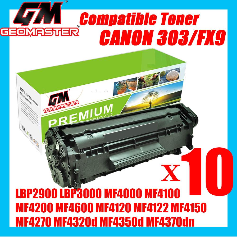 10 UNIT Compatible Laser Toner Canon 303 Cartridge 303 Canon FX9 Compatible For Canon LBP2900 LBP3000 MF4000 MF4100 MF4200 MF4600 MF4120 MF4122 MF4150 MF4270 MF4320d MF4350d MF4370dn MF4380dn MF4680 MF4690 L100 L110 L120 L140 L160 FAX L230 Printer Toner