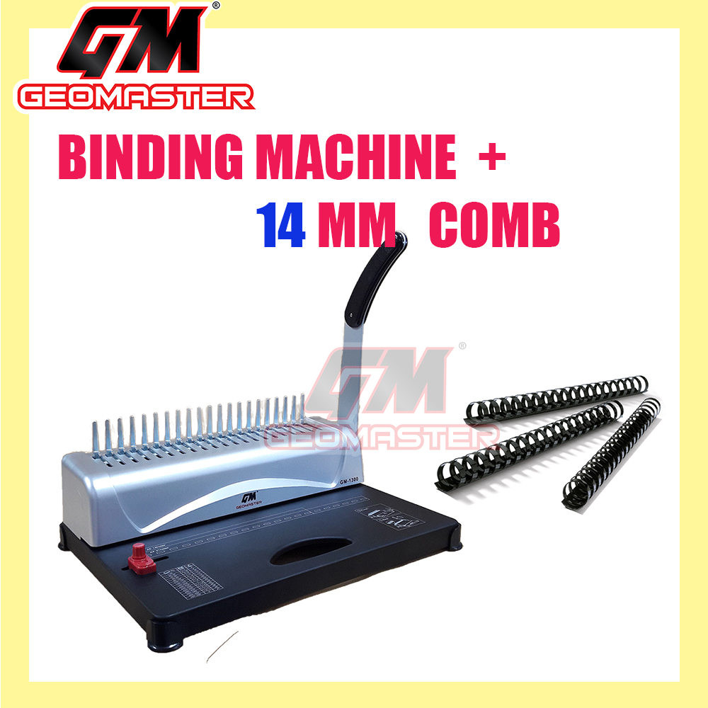 GM COMB BINDING MACHINE WITH 14MM PLACTIC COMB