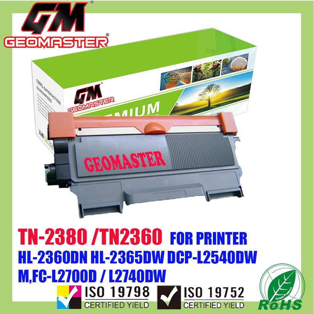 Brother TN-2380 / TN-2360 / TN2380 / TN2360 Compatible Laser Toner Cartridge For Brother HL-L2360DN / L2360 / HL-L2365DW / L2365 / DCP-L2540DW / L2540 / MFC-L2700D / MFC-L2700DW / L2700 / MFC-L2740DW / L2740 Printer
