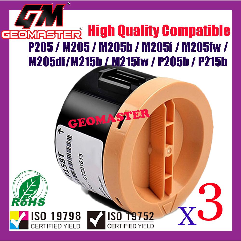 3 UNIT Compatible Toner Fuji Xerox P205b P215b P215 M205B M215b P105b M205f M205B M205fw M215fw CT201610 Premium Quality Compatible Toner Cartridge