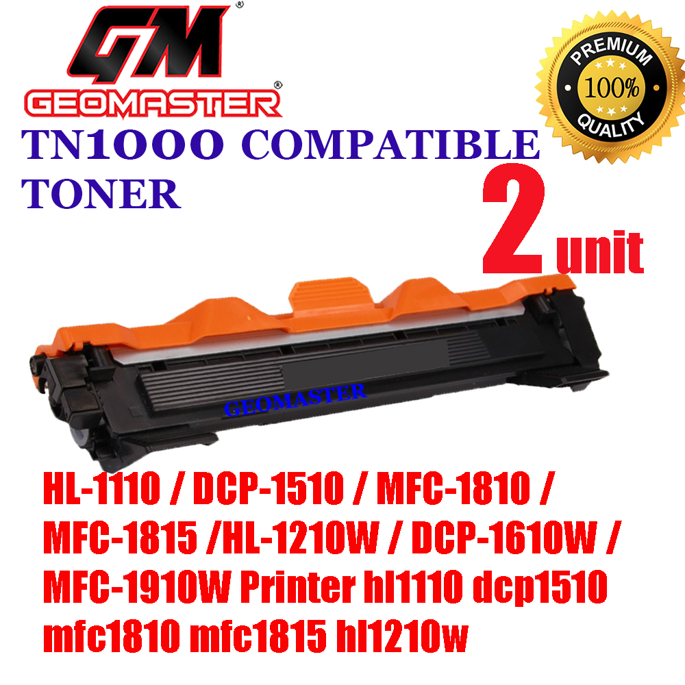 2 UNIT Brother TN1000 / TN-1000 High Quality Compatible Toner Cartridge Brother HL-1110 / DCP-1510 / MFC-1810 / MFC-1815 / HL-1210W / DCP-1610W / MFC-1910W