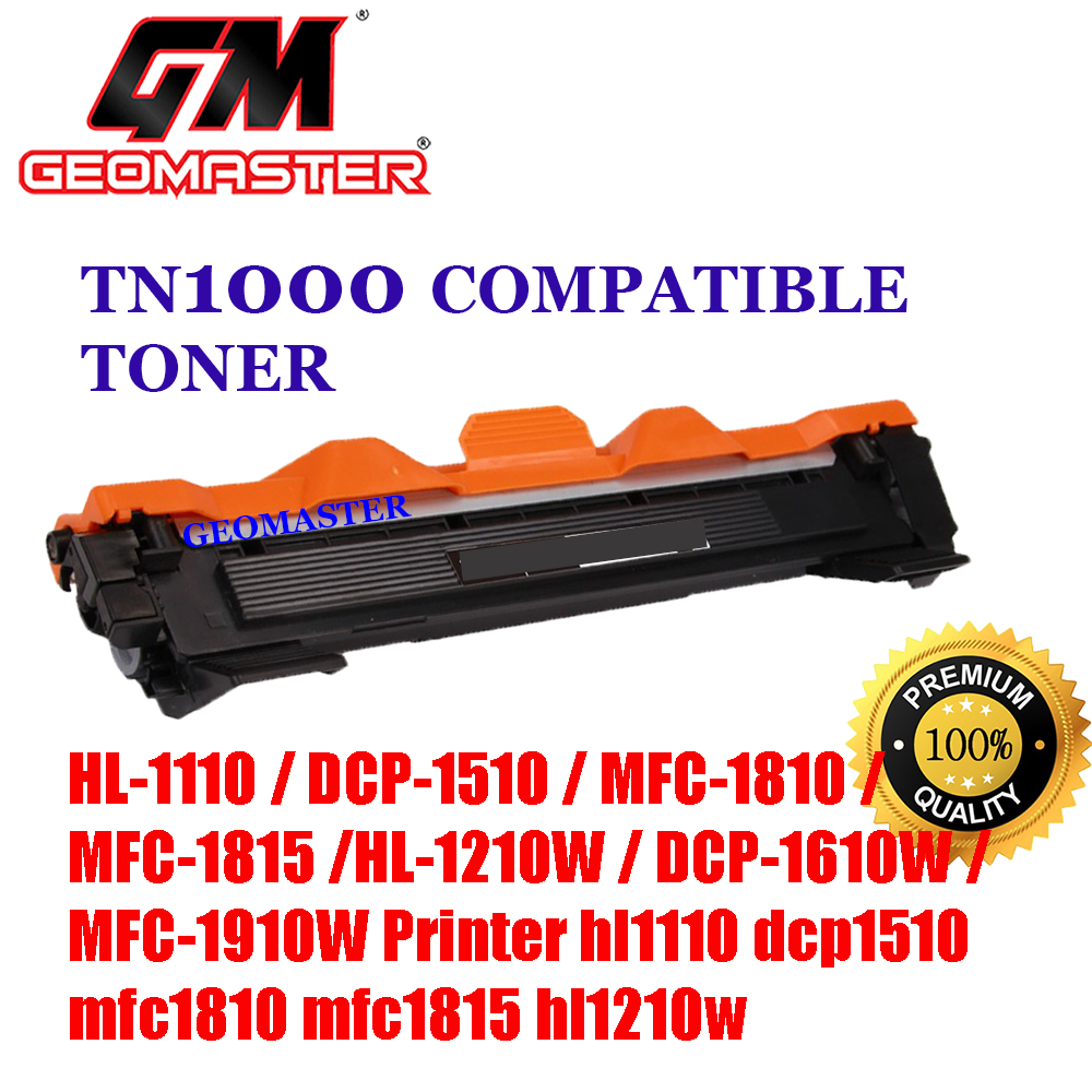Brother TN1000 / TN-1000 High Quality Compatible Toner Cartridge Brother HL-1110 / DCP-1510 / MFC-1810 / MFC-1815 / HL-1210W / DCP-1610W / MFC-1910W