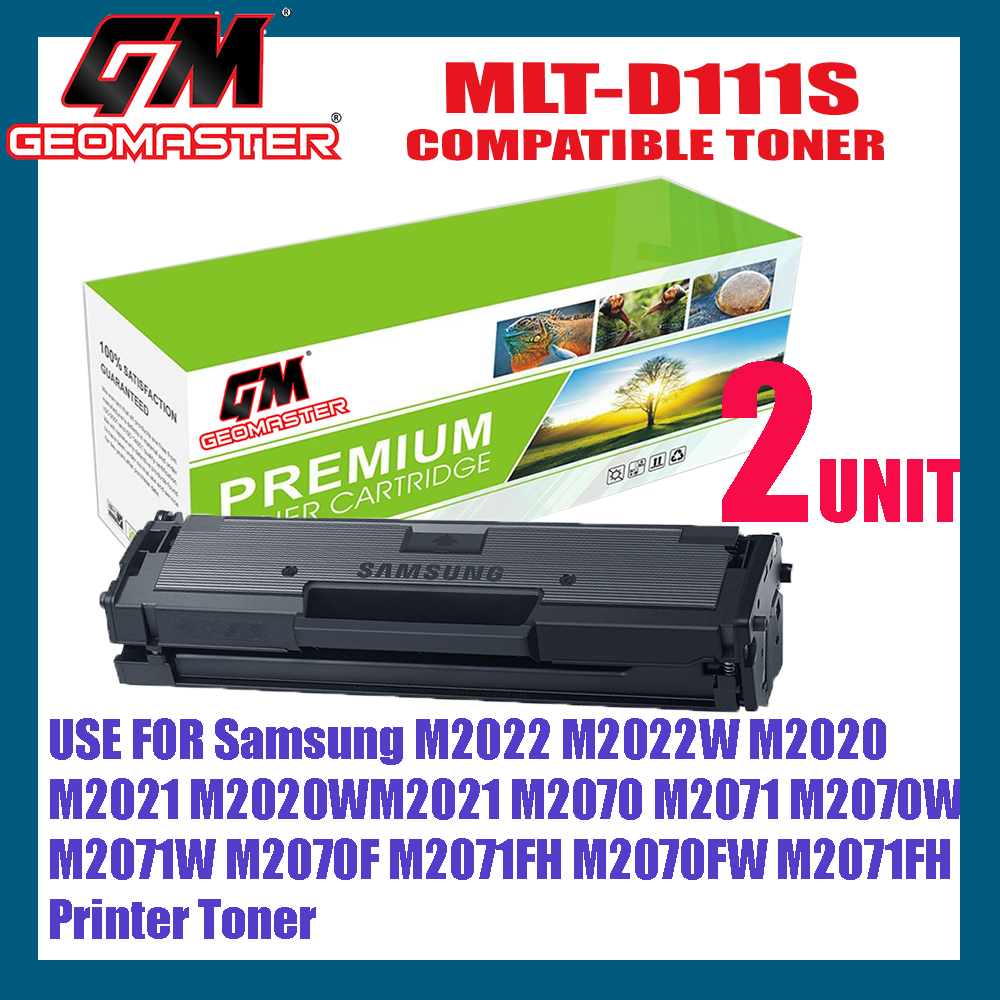 2 UNIT Samsung MLT-D111S / MLTD111S / MLTD111 Compatible High Quality Toner Cartridge Xpress M2022 / M2022W / M2020 / M2021 / M2020W / M2021W / M2070 / M2071 / M2070W / M2071W / M2070F / M2071FH / M2070FW / M2071FH
