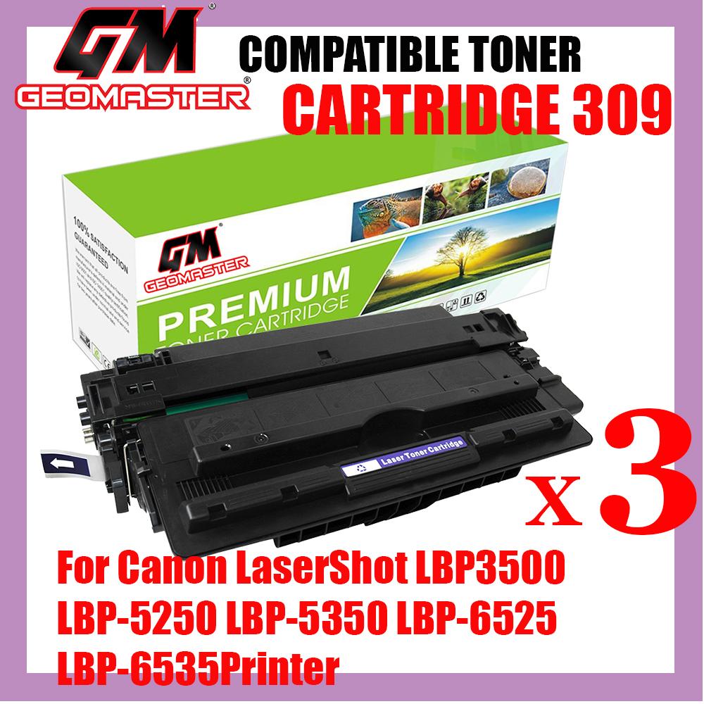 3 UNIT Compatible Laser Toner Canon 309 / Cartridge 309 High Quality Compatible Toner Cartridge For Canon LaserShot LBP3500 Printer